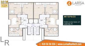M3M GoldRush Boutique Floors Floor Plan 1