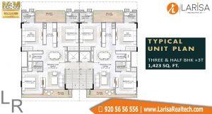 M3M GoldRush Boutique Floors Floor Plan 3