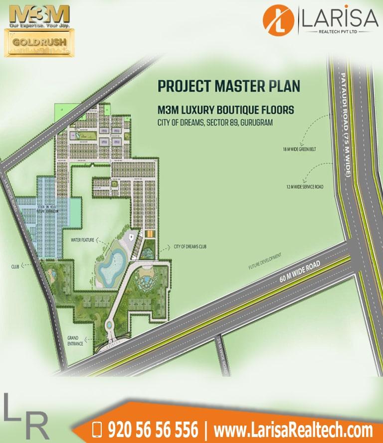M3M GoldRush Boutique Floors Site Plan