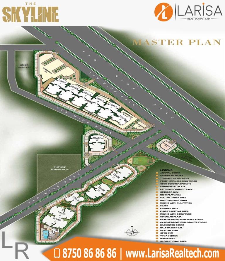 MRG World The Skyline Site Plan