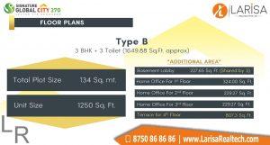 Signature Global City 37D Floor Plan B1
