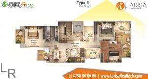 Signature Global City 37D Floor Plan B2