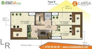 Signature Global City 37D Floor Plan B4