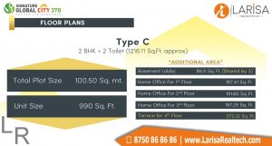 Signature Global City 37D Floor Plan C1