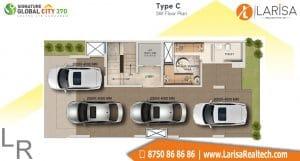 Signature Global City 37D Floor Plan C3