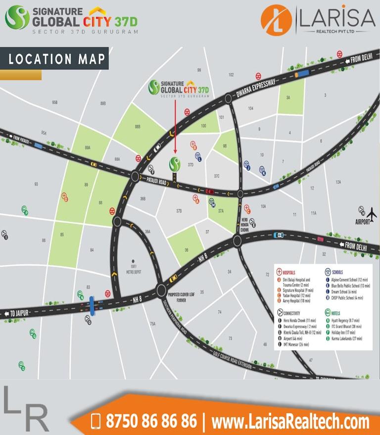 Signature Global City 37D Location Map