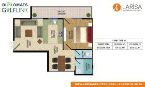 Diplomats Golf Link Floor Plan 1BHK TYPE 6