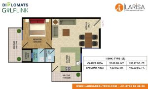 Diplomats Golf Link Floor Plan 1BHK TYPE1(B)