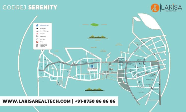 Godrej Serenity Location Map