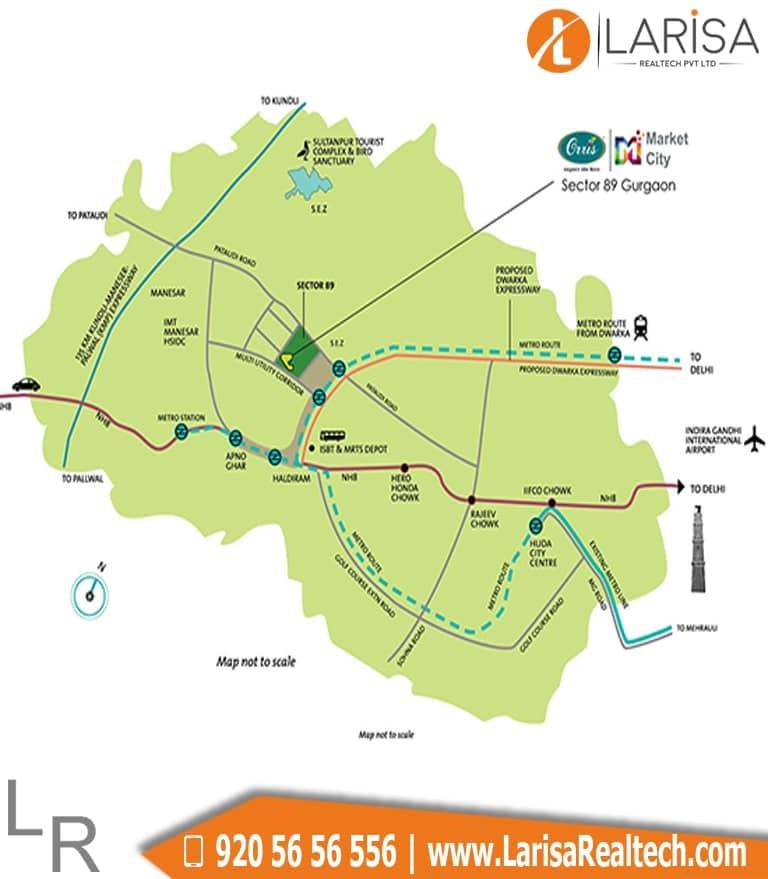 Orris Market 89 Location Map