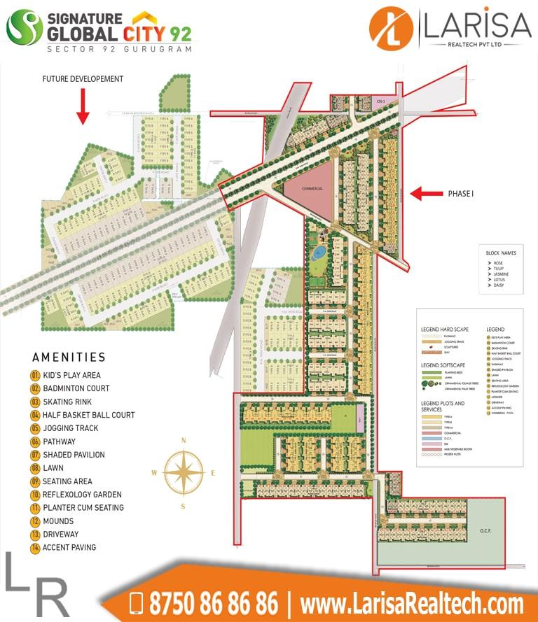 Signature Global City 92 Site Plan