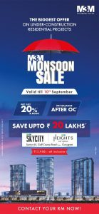 m3m mansoon sale