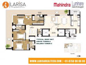 Mahindra Luminare FLOOR PLAN 3(3BHK_TOWER-A)