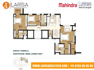 Mahindra Luminare FLOOR PLAN 5(SIRIUS TOWER-A_PENTHOUSE 4BHK LOWER UNIT)