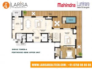 Mahindra Luminare FLOOR PLAN 6(SIRIUS TOWER-A_PENTHOUSE 4BHK UPPER UNIT)