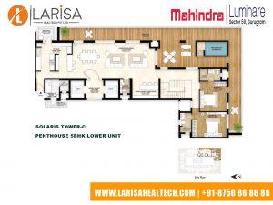 Mahindra Luminare FLOOR PLAN 7(SOLARIS TOWER-C_PENTHOUSE 5BHK LOWER UNIT)