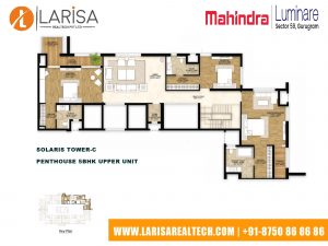 Mahindra Luminare FLOOR PLAN 8(SOLARIS TOWER-C_PENTHOUSE 5BHK UPPER UNIT )