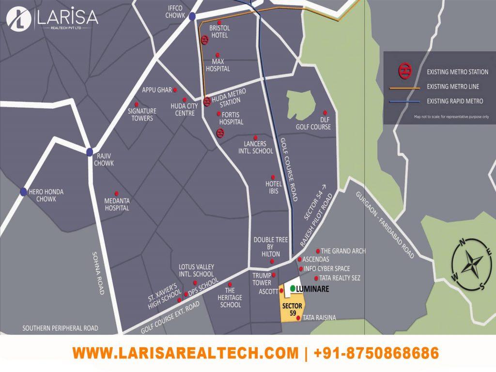 Mahindra Luminare Location Map