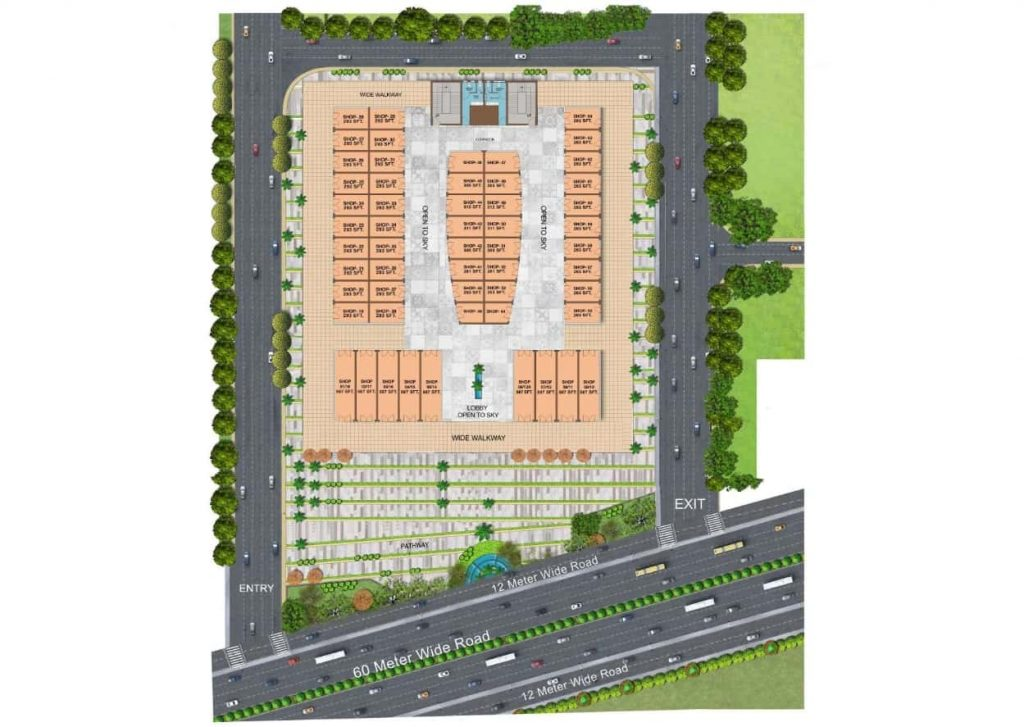 ROF Galleria 93 Society Shops Site Plan