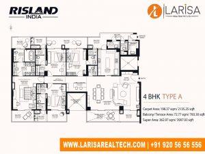Risland Sky Mansion 4BHK (Type A)