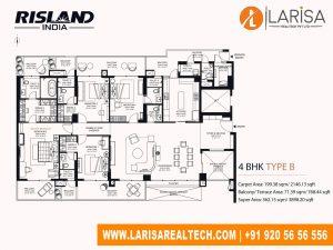 Risland Sky Mansion 4BHK(Type B)