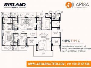 Risland Sky Mansion 4BHK(Type C)