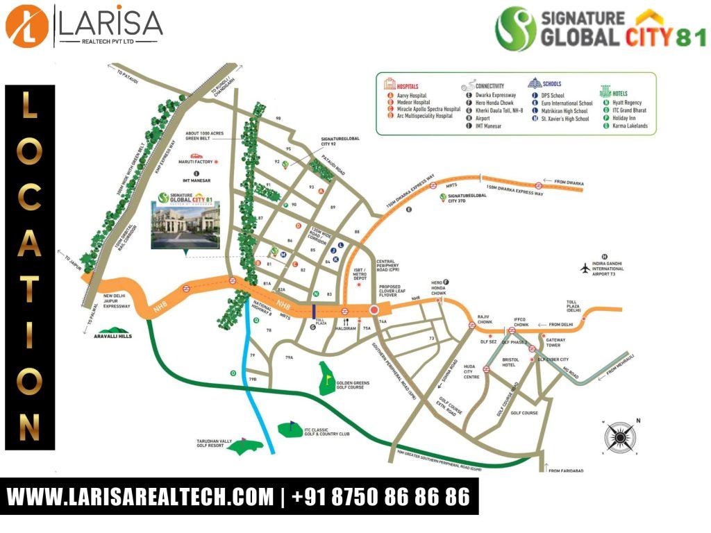 Signature Global City 81 Location Map