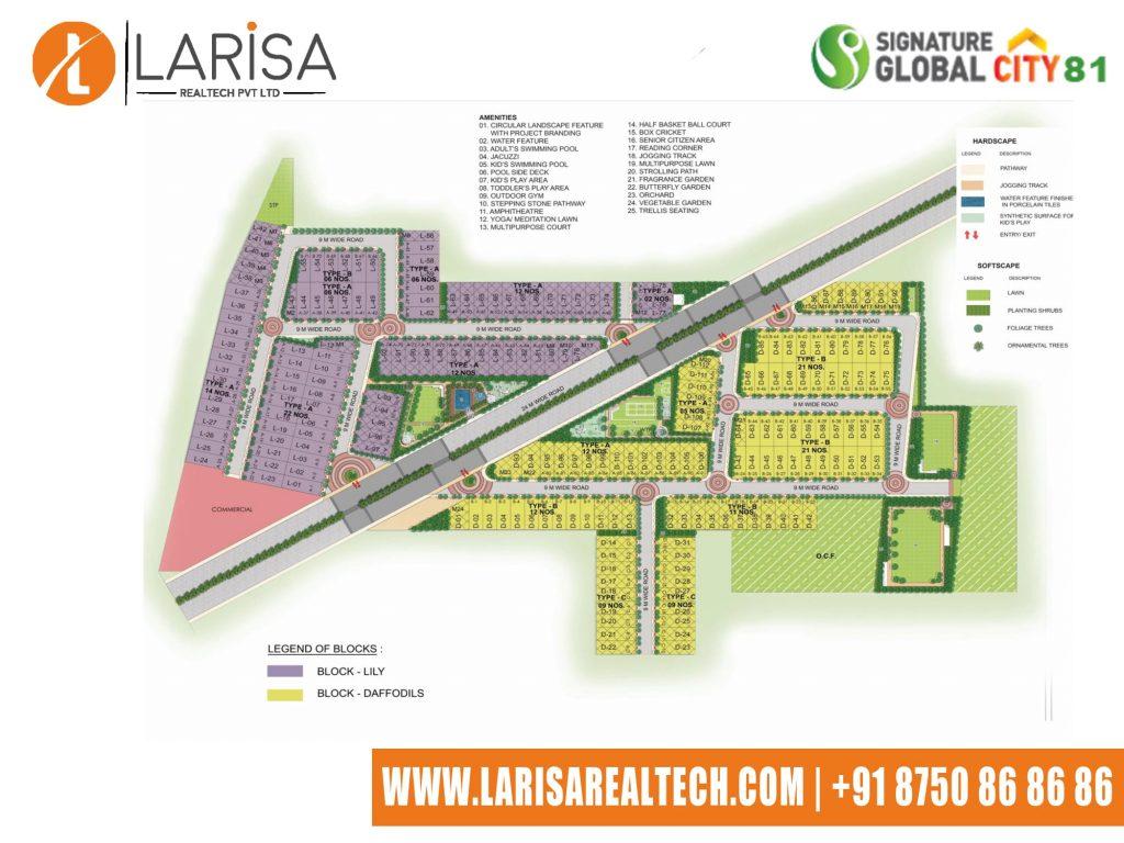 Signature Global City 81 Site Plan