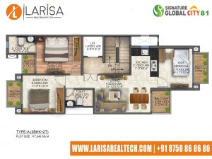 Signature Global City 81 TYPE A(2BHK+2T)