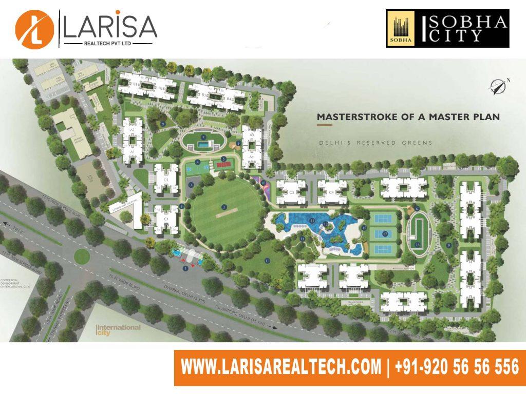 Sobha City 108 Site Plan