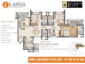 Sobha City 108 TOWER B1 (B4)_UNIT TYPE C Floor Plan