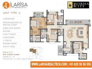 Sobha City 108 TOWER C1(C4)_TYPE E Floor Plan