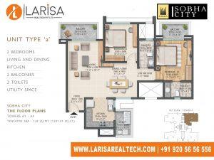 Sobha City 108TOWER A1_UNIT_TYPE 1 Floor Plan