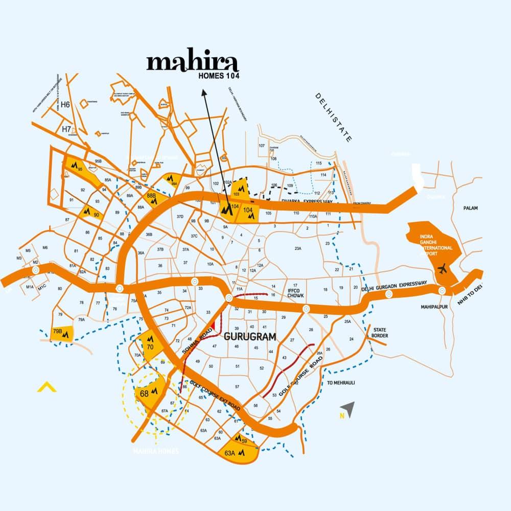 Mahira Homes 104 Location Map